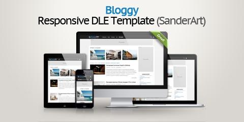 Шаблон Bloggy — адаптивный блоговый новостной