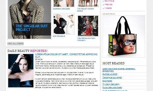 Шаблон HTML Fashion для магазинов одежды и моды