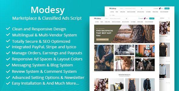 Modesy v1.4.1 NULLED скрипт интернет-магазина и доски объявлений
